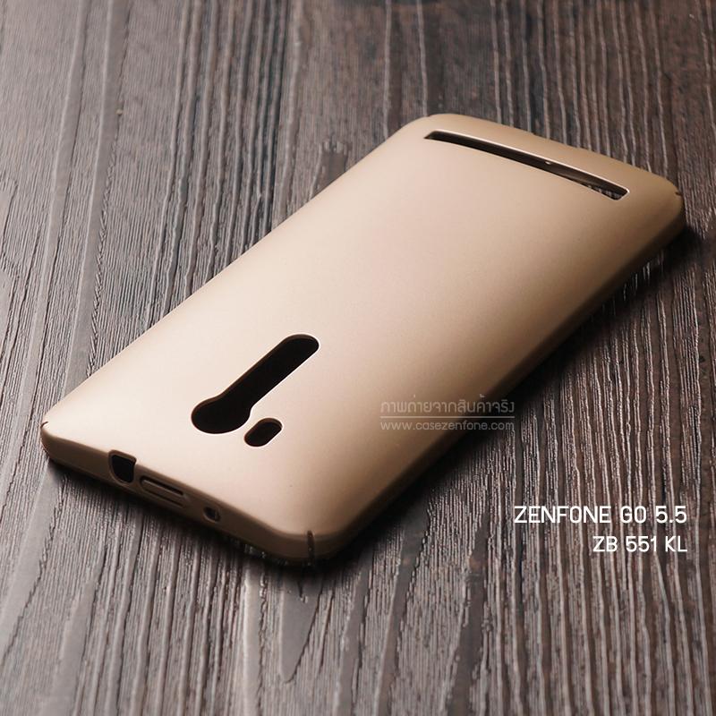 """เคส Zenfone GO TV 5.5"""" (ZB551KL) เคสแข็งสีเรียบ คลุมขอบ 4 ด้าน สีทอง"""
