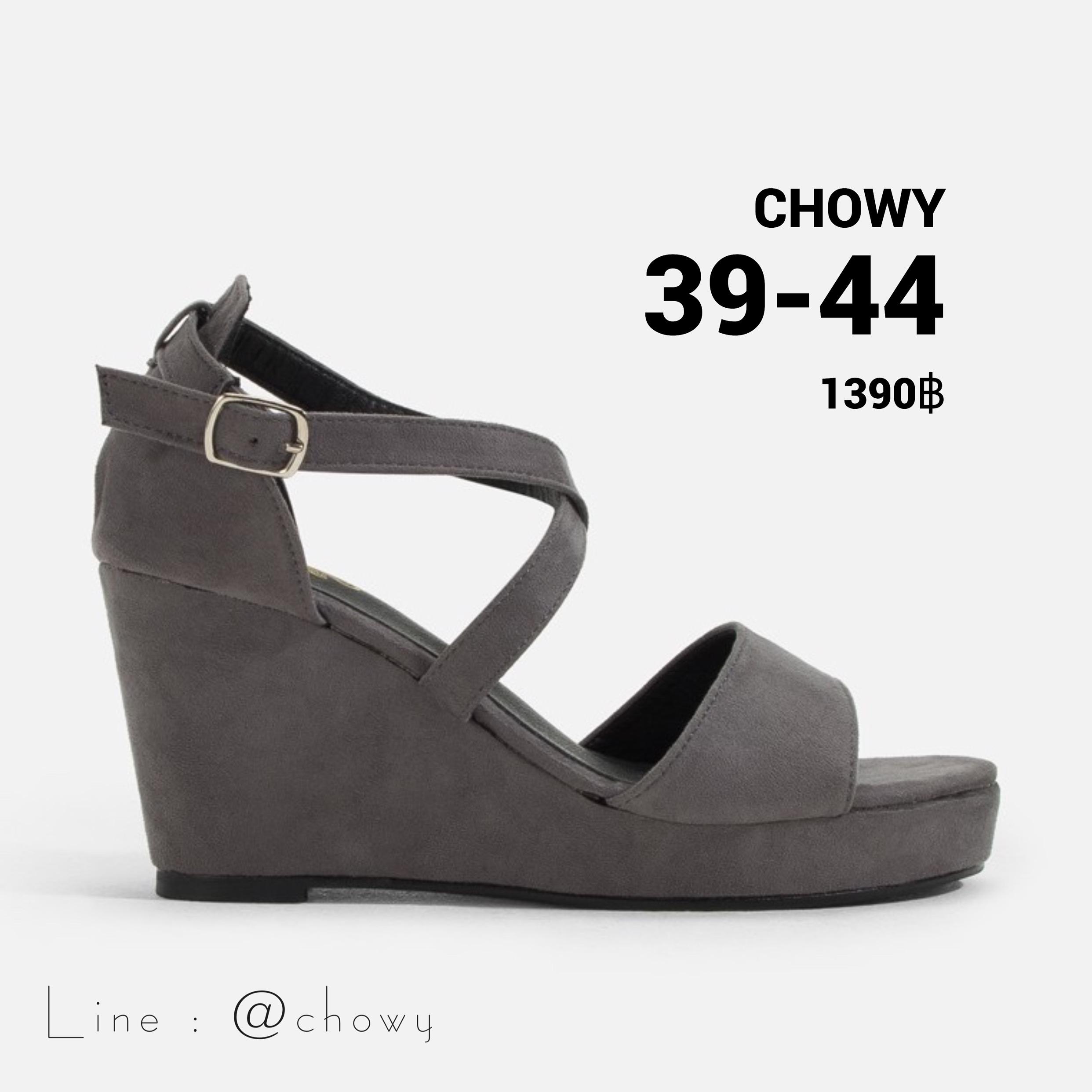 รองเท้าส้นเตารีดไซส์ใหญ่ 39-44 EU Suede Platform รุ่น CH0141