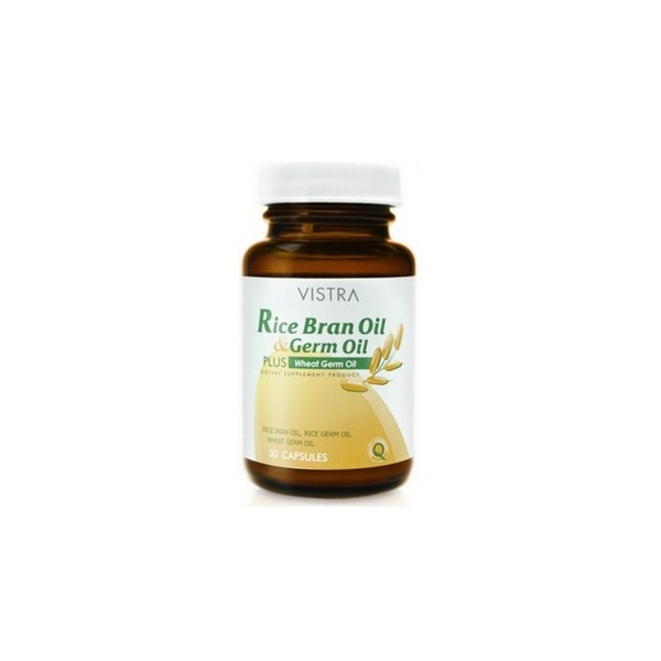 Vistra Rice Bran Oil Germ Oil Plus Wheat Germ Oil 30 เม็ด