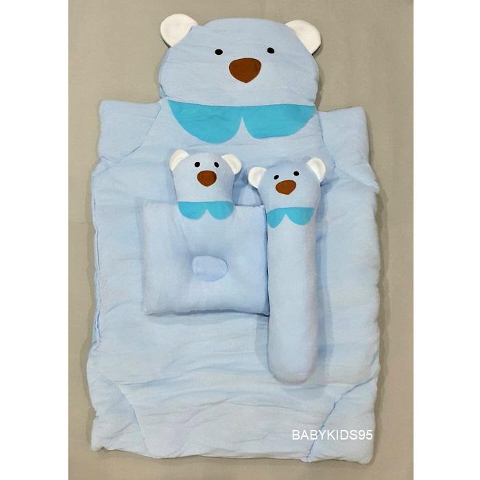 ที่นอนเด็กอ่อน รูปสัตว์ ซักได้ 95x55x6cm. G4 -Blue