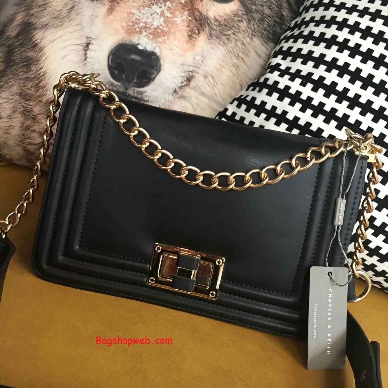 กระเป๋า CHARLES&KEITH CHAIN BAG 2015 Black