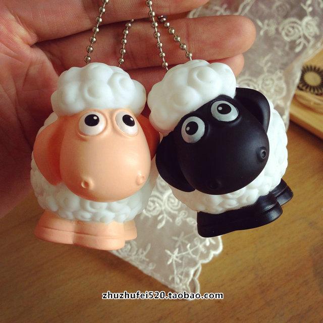 พวงกุญแจยางรูปแกะ Shuan the Sheep