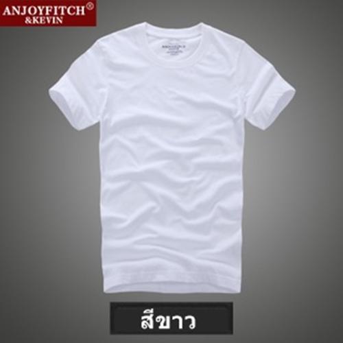 เสื้อยืดคอกลม เสื้อยืดผู้ชาย anjoyfitch & kevin ฝ้าฝ่าย 100% ไซส์ L