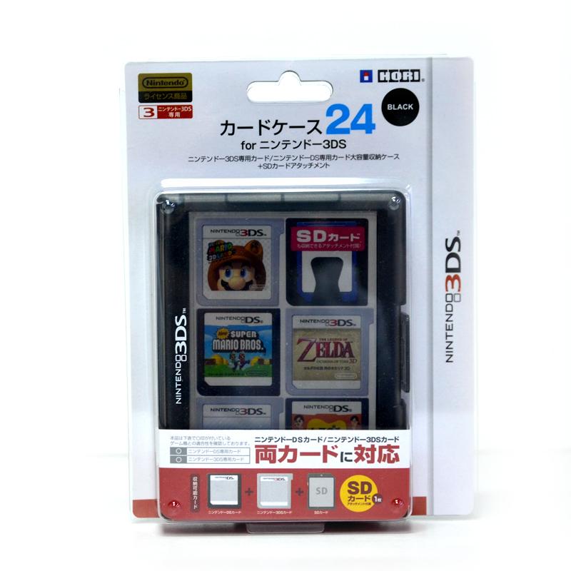 Card Case 24 Pieces (Clear Black) กล่องใส่ตลับเกม 3DS™ 24 ชิ้น สีดำใส ยี่ห้อโฮริ ของแท้ HORI™ 3DS-020