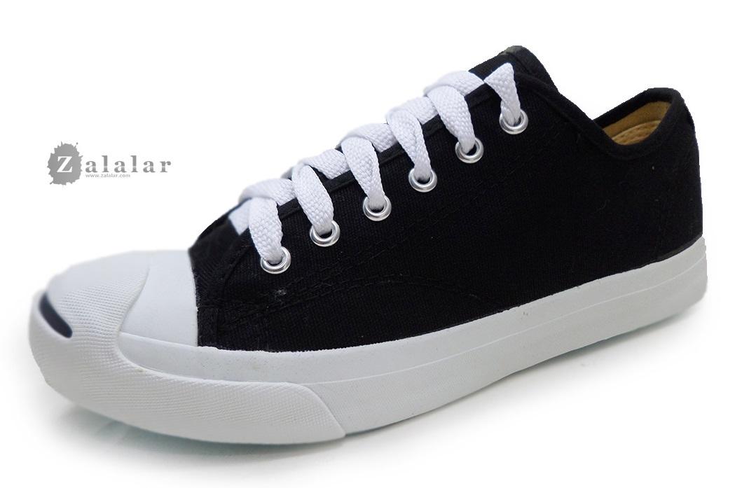 [พร้อมส่ง]รองเท้าผ้าใบแฟชั่น LEO JACK สีดำ