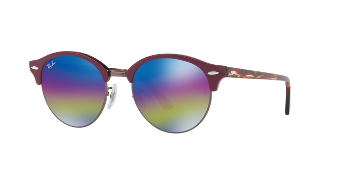 Ray Ban RB4246 1222C2 TOP BORDEAUX ON TRASPARENT BOR Light Grey Mirror Rainbow 1