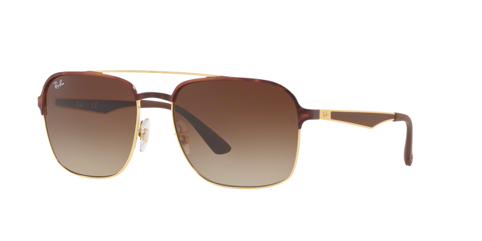Ray Ban RB3570 900813 GOLD TOP HAVANA Gradient Brown