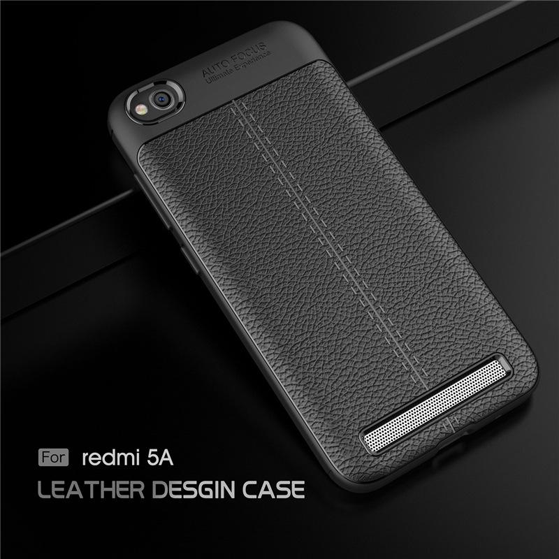 เคส Xiaomi Redmi 5A ซิลิโคน TPU ลายหนัง (เคสนิ่ม)