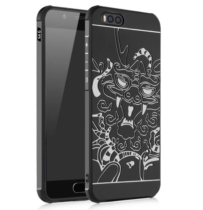 เคส Xiaomi Mi6 TPU สีดำ (ลายมังกร)