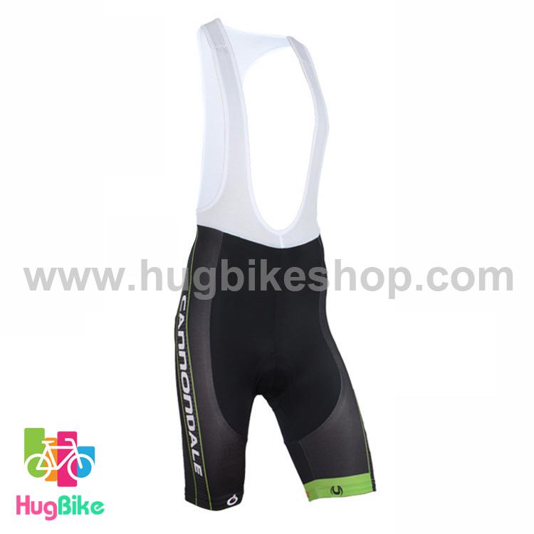กางเกงจักรยานขาสั้นเอี๊ยม Cannondale 16 (01) สีเขียวดำ