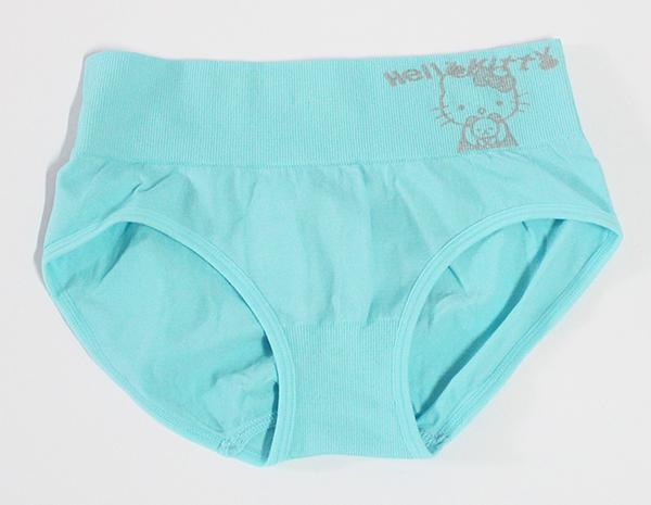 กางเกงในหญิง ลาย Kitty สีฟ้า