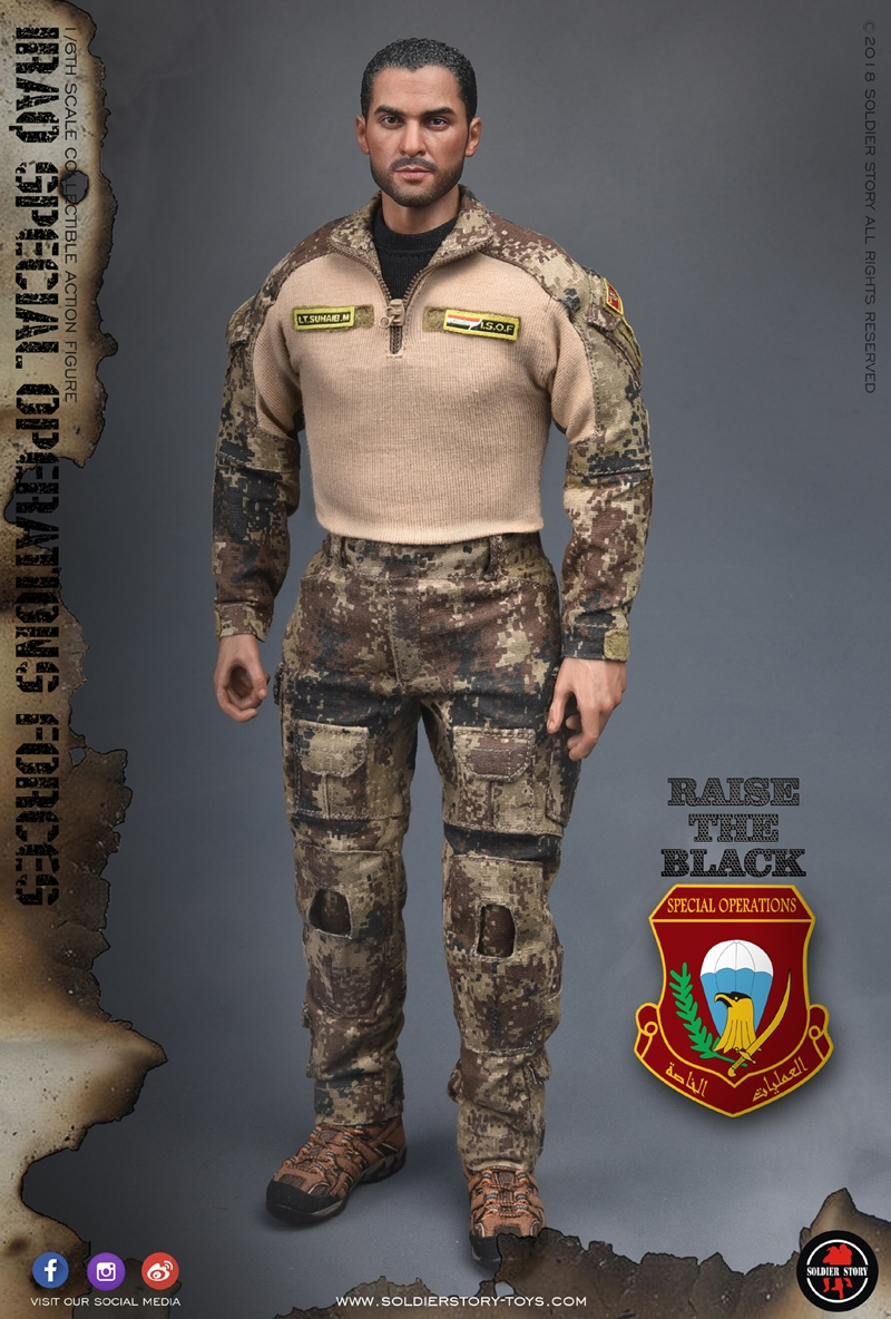 1//6 Soldier Story ISOF Iraq Special Operations Force SS-107 Saw Gunner Uniform