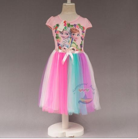 Pre-order ชุดเอลซ่า/ Size 130 / Pink