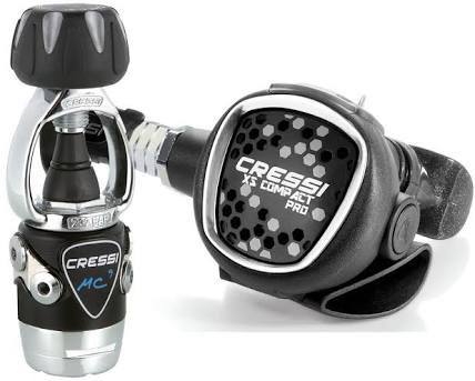 Cressi MC9-sc compact pro regulator set + oct compact pro + pressure guage