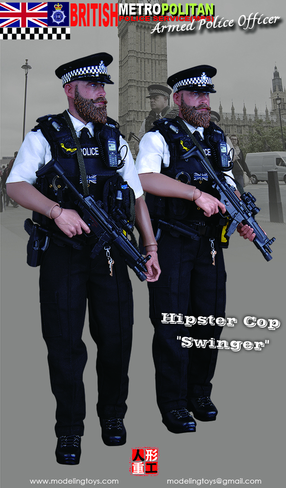 MODELING TOYS MMS9002 1/6 MILITARY SERIES: BRITISH METROPOLITAN POLICE SERVICE - ARMED POLICE OFFICER