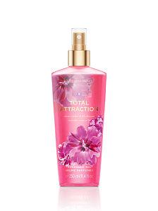 **พร้อมส่ง**Victoria's Secret Total Attraction Fragrance Mist 250 ml. สเปร์ยฉีดผิวกายให้กลิ่นหอมติดตัวตลอดวัน กลิ่นดอกไม้หอม ดอกกล้วยไม้และลิลลี่ หอมหวานนุ่มละมุล สาวๆที่หลงไหลกลิ่นของดอกลิลลี่ จะต้องหลงรักกลิ่นนี้แน่นอน ,