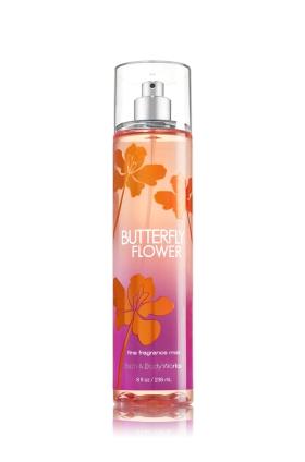 **พร้อมส่ง**Bath & Body Works Butterfly Flower Fine Fragrance Mist 236 ml. สเปร์ยน้ำหอมที่ให้กลิ่นติดกายตลอดวัน ด้วยกลิ่นเมลอน เป็นกลิ่นแนวสดชื่น หอมอ่อนๆ ใช้ได้ทั้งชายและหญิง ,