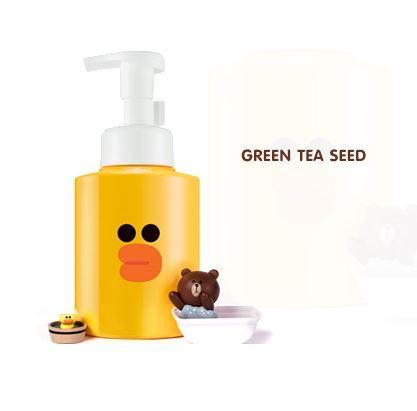 **พร้อมส่ง**Missha Line Friends Edition Micro Bubble Foam #Green Tea Seed (Sally:ขวดปั๊มเหลืองเป็ดน้อย) 250 ml. โฟมล้างหน้าเนื้อโฟมเนียนนุ่ม พร้อมทำความสะอาดสุดล้ำลึก เนื้อโฟมละเอียดระดับไมโคร สารสกัดจากเมล็ดชาเขียว ช่วยบำรุงผิวให้ชุ่มชื่นลึกถึงชั้นผิว เพ