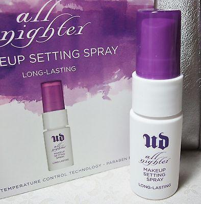 **พร้อมส่ง**Urban Decay All Nighter Long-Lasting Makeup Setting Spray ขนาดพกพา 15ml. สเปร์ยช่วยให้เมคอัพติดคงทนนาน 16 ชม. ช่วยทำให้รองพื้น อายเชโดว์ บรัชออน ฯลฯ ของคุณติดทนนานตลอดวัน และไม่ทำให้เมคอัพลบเลือนระหว่างวันที่มีสาเหตุมาจากอากาศร้อนๆ ของบ้านเรา