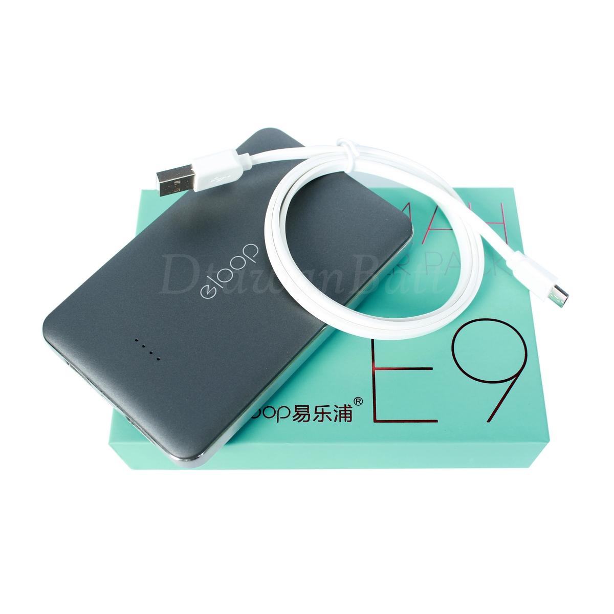 พาวเวอร์แบงค์ eloop e9,แบตสำรอง eloop e9,powerbank 10000mah ของแท้ 100% (สีดำ)