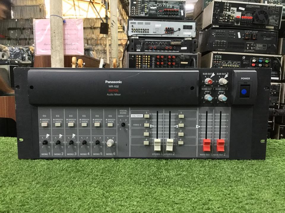 เครื่องขยายเสียง PANASONIC RAMSA WR-X02 สินค้าไม่พร้อมใช้งาน(ต้องซ่อม)