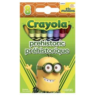 Crayola Prehistoric สีเทียนแท่งเล็ก กล่องละ 8 แท่ง ปลอดสารพิษ