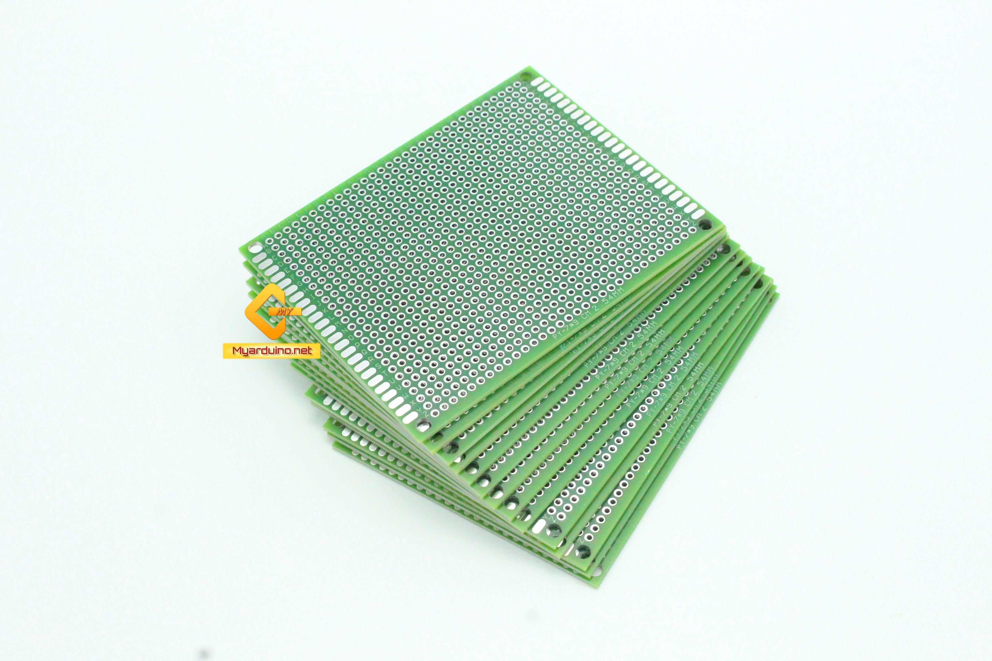 แผ่นปริ๊นอเนกประสงค์ ไข่ปลา สีเขียว คุณภาพดี Prototype PCB Board 7x9 cm