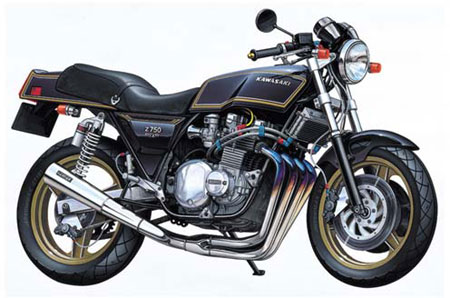 1/12 NAKED BIKE No.18 Kawasaki Z750FX Full Tune Plastic Model(Back-order)