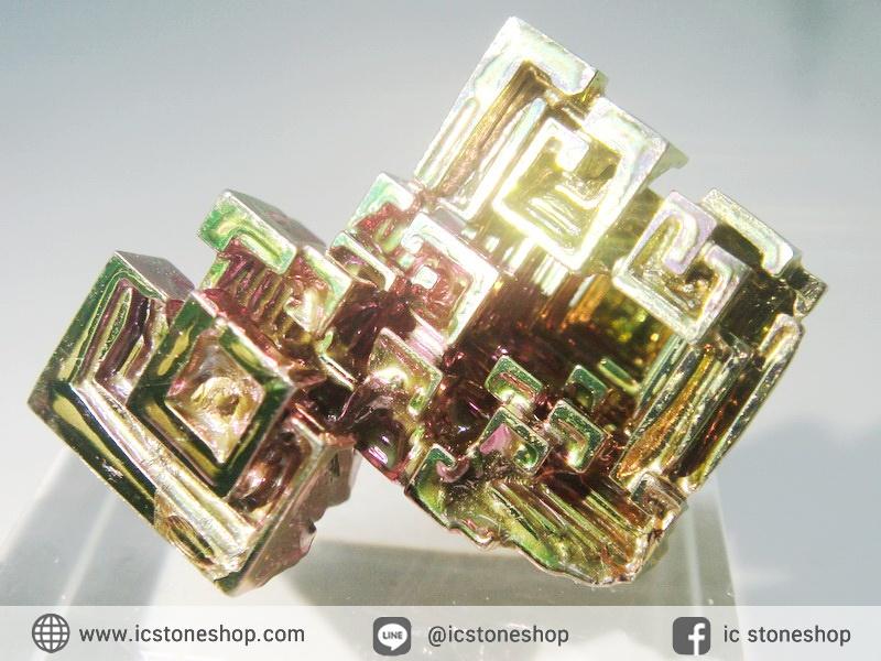 ▽บิสมัท Bismuth รูปแบบแร่ที่มนุษย์ทำขึ้น(11.8g)