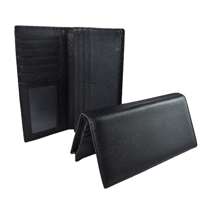 GT-8019 กระเป๋าสตางค์ผู้ชาย ใบยาว สีดำ
