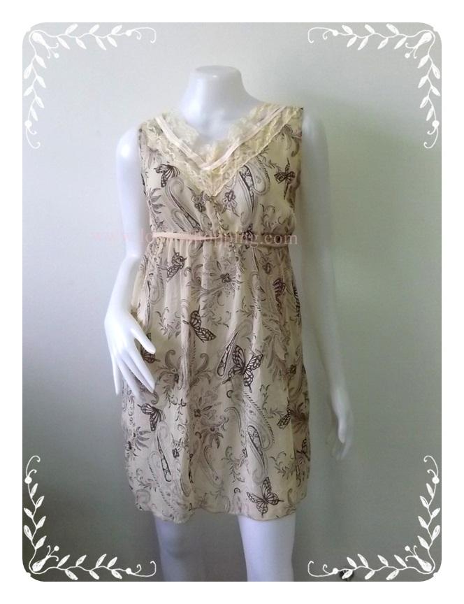 """Dress0652--เดรสแฟชั่น ชีฟอง สวยๆ """"อก 34 นิ้ว"""""""