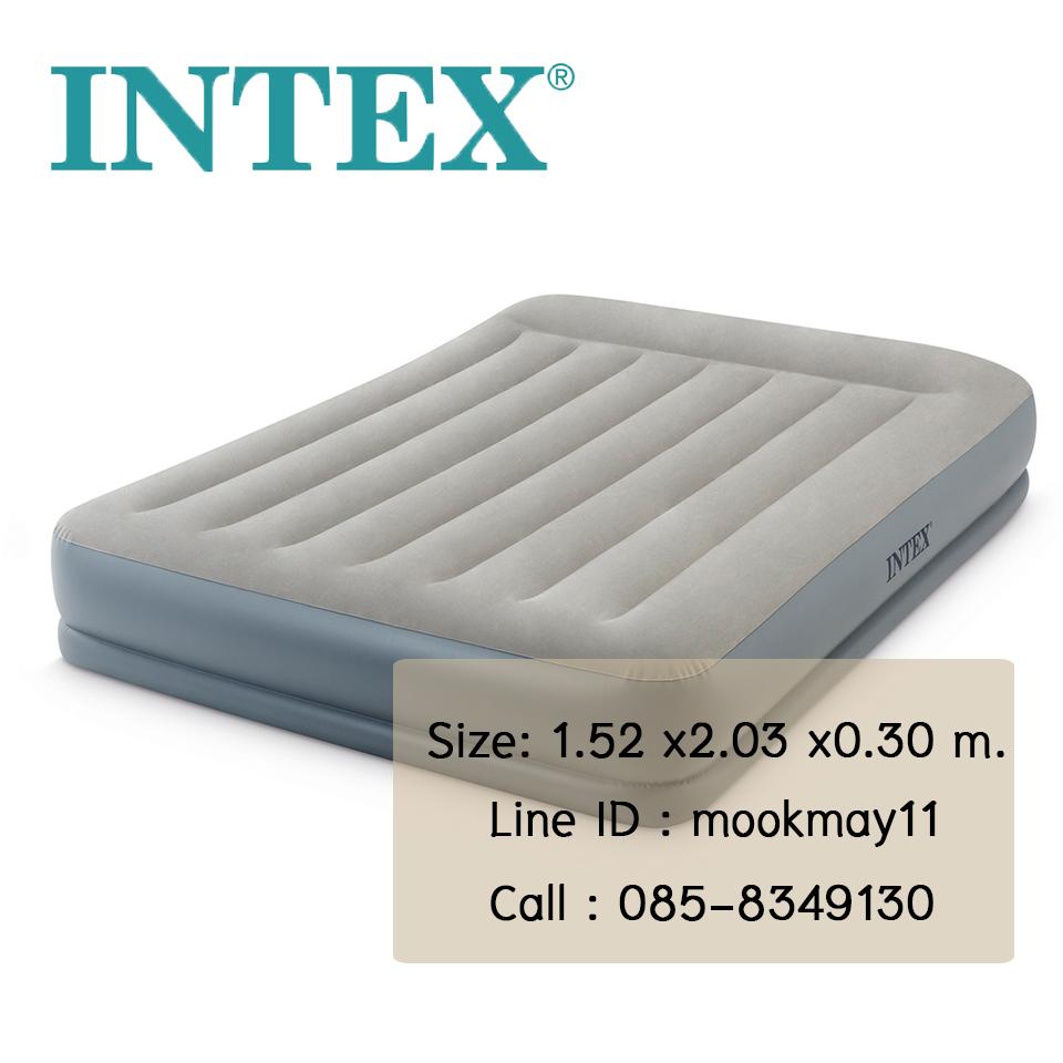 Intex Unisex Pillow ขนาด 5 ฟุต ปั้มลมในตัว รุ่น 64118