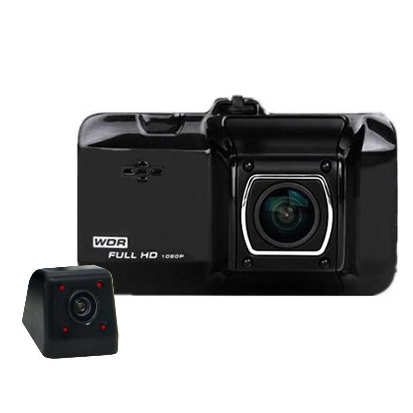 กล้องติดรถยนต์ WDR INFARED 1080p กล้องหน้า+หลัง รุ่น Q8C