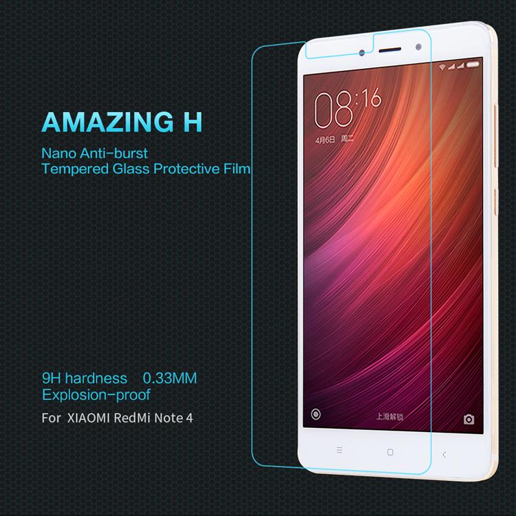 ฟิล์มกระจกนิรภัย Nillkin H สำหรับ Xiaomi Redmi Note 4/4X (ไม่เต็มจอ)
