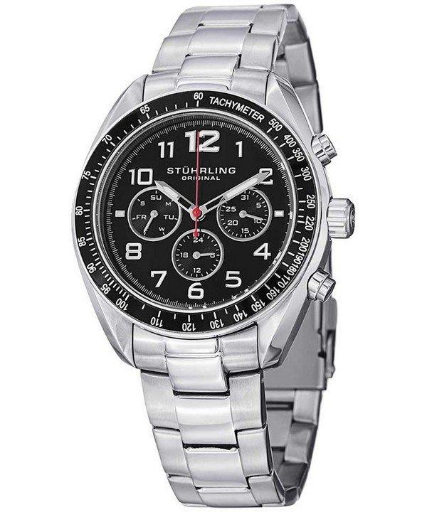 นาฬิกาผู้ชาย Stuhrling Original รุ่น 814.01, Monaco Concorso Dragster Tachymeter Quartz Men's Watch