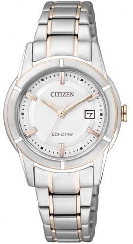 นาฬิกาข้อมือผู้หญิง Citizen Eco-Drive รุ่น FE1034-59A, WR 50m Elegant Dual Tone