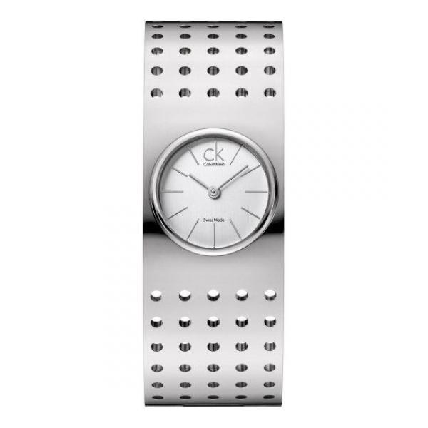 นาฬิกาข้อมือผู้หญิง Calvin Klein รุ่น K8322120, Bangle Sapphire Analog Grid Collection Swiss Watch
