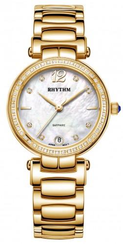 นาฬิกาผู้หญิง Rhythm รุ่น L1504S04, Diamond Sapphire L1504S 04, L1504S-04