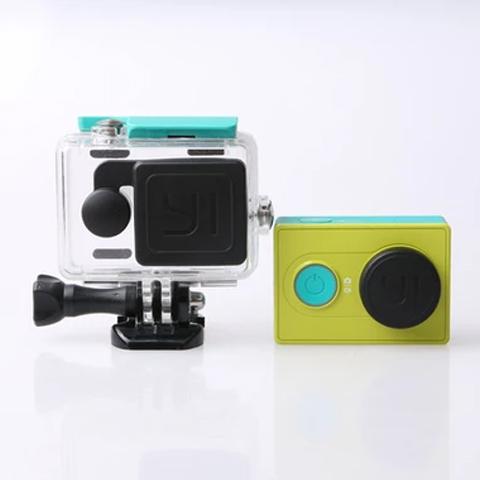 ฝาปิดเลนส์กล้อง และ ฝาปิดเลนส์เคสกันน้ำ Xiaomi Yi Action ยี่ห้อ Kingma