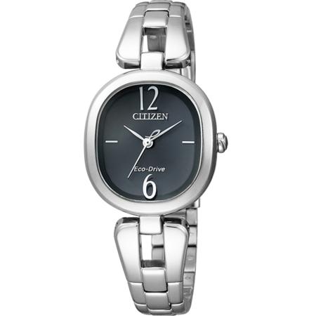 นาฬิกาข้อมือผู้หญิง Citizen Eco-Drive รุ่น EM0180-56E, Analog Black Dial