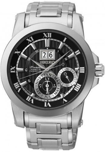 นาฬิกาผู้ชาย Seiko รุ่น SNP093P1, Premier Kinetic Perpetual Calendar