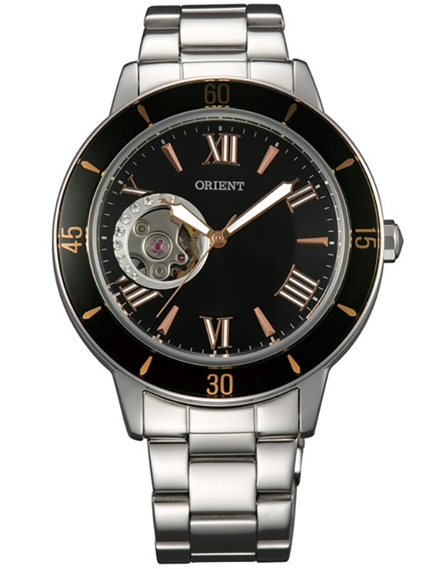 นาฬิกาผู้หญิง Orient รุ่น FDB0B004B0, Semi Skeleton Open Heart Automatic