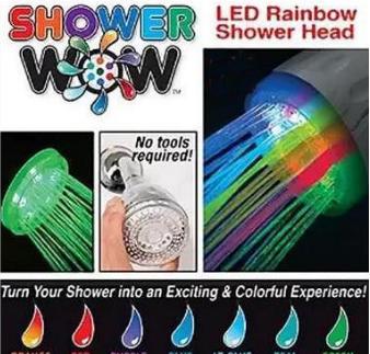 ฝักบัวอาบน้ำสีรุ้งSHOWER WOW