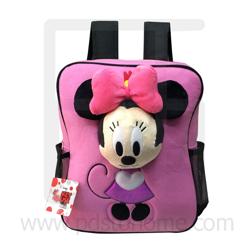 Preschool, Nursery school, Genuine Brand, Cartoon Backpack, lint, Minnie Pink