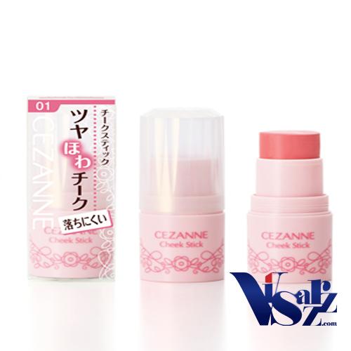 Cezanne Cheek Stick 5g # 01 Peach Pink บลัชออนเนื้อครีมรูปแบบสติ๊ก เกลี่ยง่าย ไม่เป็นคราบ ให้พวงแก้มและริมฝีปากสวยฉ่ำระเรื่อ น่ารัก ดูอ่อนเยาว์