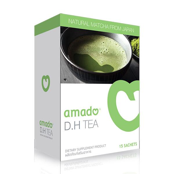 Amado D.H Tea อมาโด้ ชาเขียว (15ซอง) ชาเขียว ชาลดความดัน ชาลดเบาหวาน