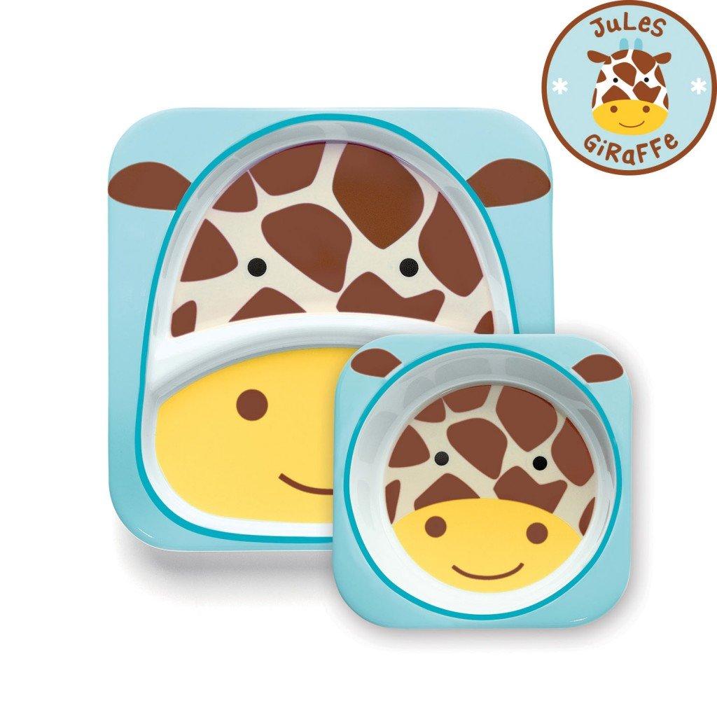 จานและชามบรรจุอาหารสุดน่ารัก Skip Hop รุ่น Zoo Melamine Set (Giraffe)