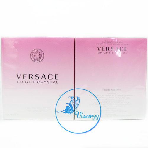 (กล่องห้าง ลด 55%) Versace Bright Crystal EDT 90 mL ตัว Top Versace หัวเพชร กลิ่นหอมหวานเย็นอ่อนๆเอามากๆ เหมาะกับผู้หญิงที่มีเสน่ห์มั่นใจ