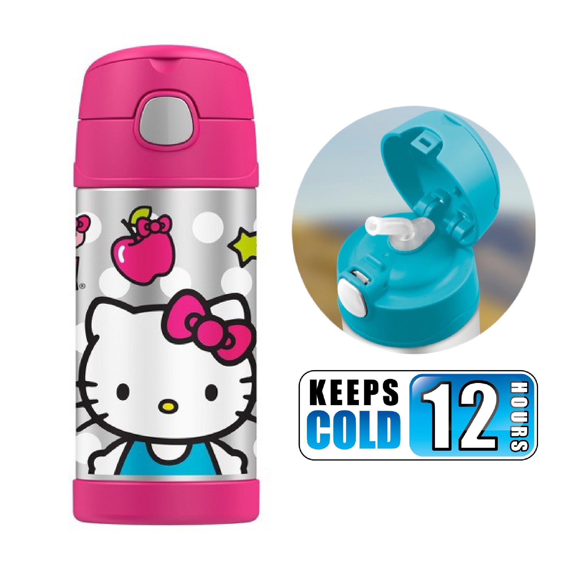 กระติกน้ำสเตนเลสรักษาอุณหภูมิ Thermos FUNtainer Vacuum Insulated Stainless Steel Bottle 12OZ (Hello Kitty)