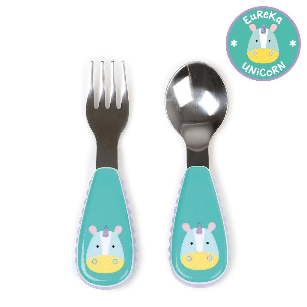 ชุดช้อนและส้อมสำหรับเด็กสุดน่ารัก Skip Hop รุ่น Zootensils Little Kids Fork & Spoon (Unicorn)